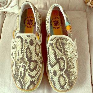 Lamb snakeskin sneakers